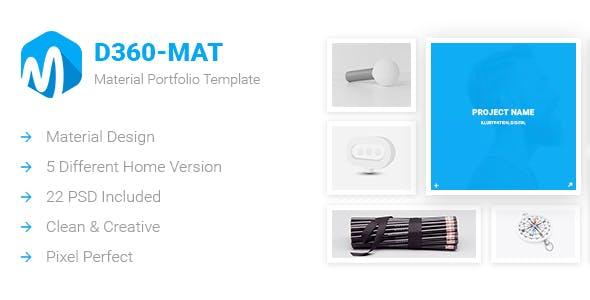 D360-Mat – Material Portfolio Template