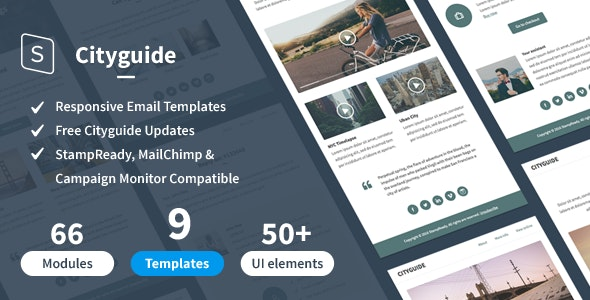 Cityguide + StampReady Builder - Newsletters Email Templates