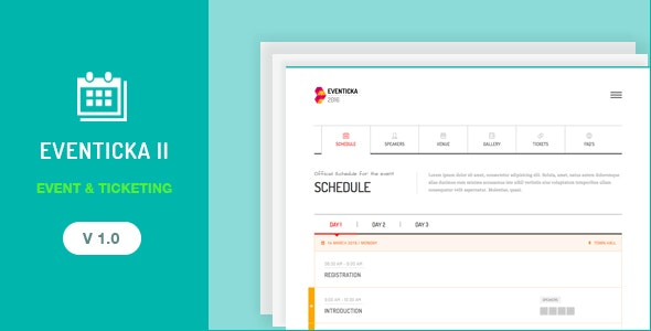 Eventicka II | Event Landing Page & Ticketing - Events Entertainment