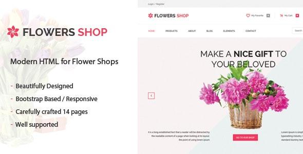 Flowershop - Flower - Boutique Shop HTML Template - Shopping Retail