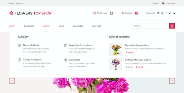 Flowershop - Flower - Boutique Shop HTML Template