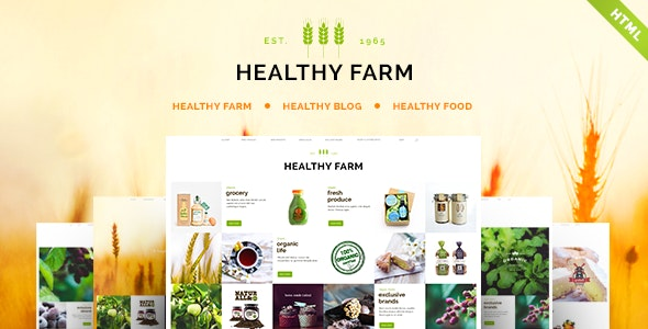 Healthy Farm | Food & Agriculture Site Template - Food Retail