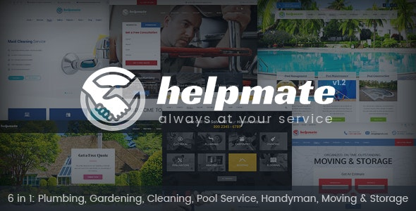 Helpmate - 6 in 1 Maintenance HTML Template - Business Corporate
