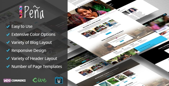 Pena - Charity/Non-Profit WordPress Theme - Charity Nonprofit