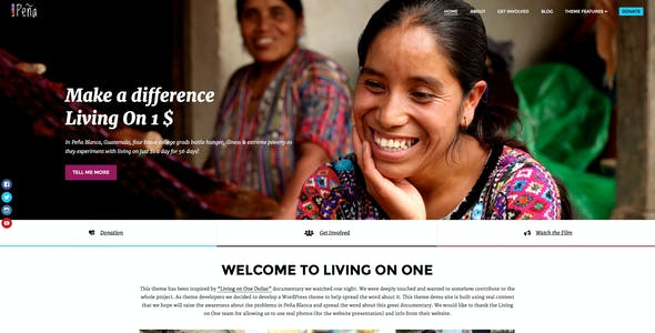 Pena - Charity/Non-Profit WordPress Theme