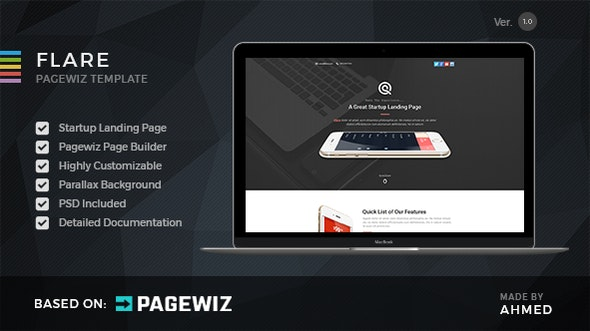 Flare - Pagewiz Startup Landing Page - Pagewiz Marketing