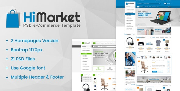 HiMarket - Multipurpose eCommerce PSD Template - Shopping Retail