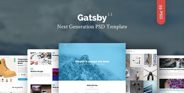 Gatsby — Creative Multipurpose PSD Template - Creative Photoshop
