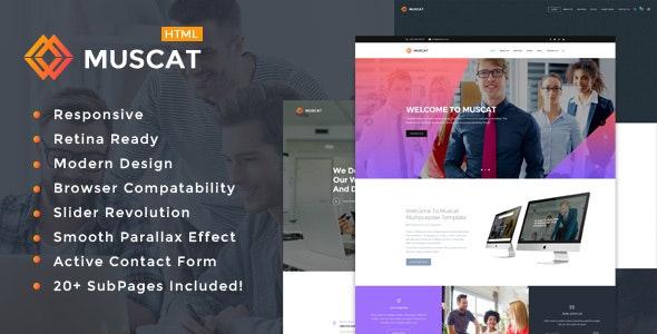 Muscat : Multi-Color Multipurpose HTML Template - Portfolio Creative