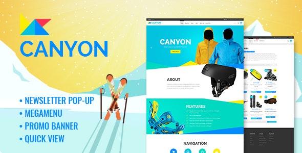 Canyon - Responsive Extreme Sportswear Shopify Theme - Shopify eCommerce