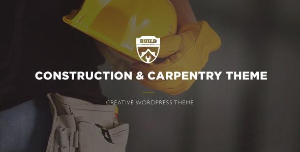 Build - Construction & Carpentry WordPress Theme - Business Corporate