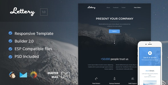 Lettery - HTML Email Template + Builder 2.0  - Email Templates Marketing