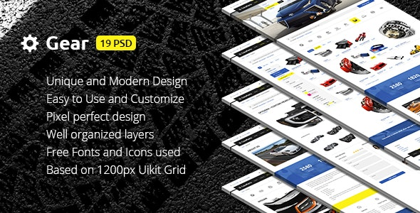 Gear — Automotive Business & Auto Parts Store PSD Template - Business Corporate