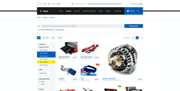 Gear — Automotive Business & Auto Parts Store PSD Template