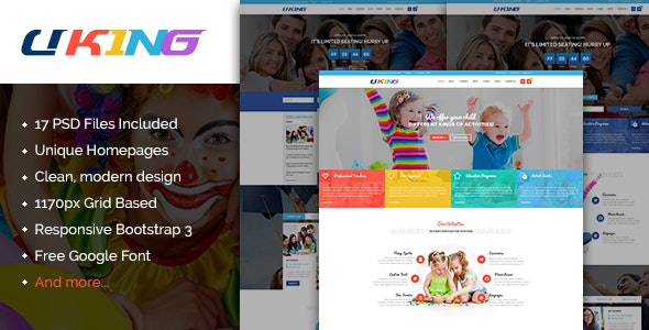 Uking - Creative Business PSD Template - Creative PSD Templates