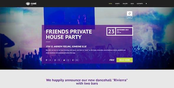 Club Cube v.2 - responsive HTML5 theme for night club