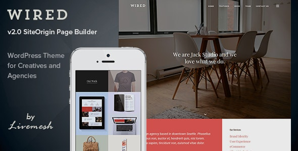 Wired - Multi-Purpose Portfolio WordPress Theme - Portfolio Creative