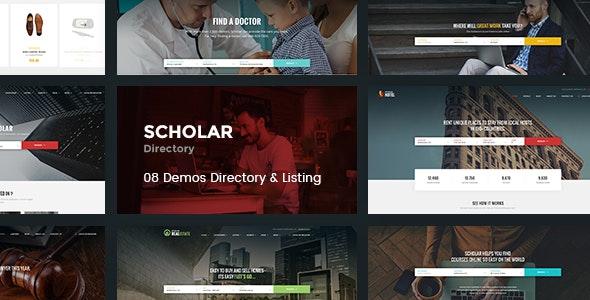 Scholar - Directory Multipurpose PSD Template - Photoshop UI Templates