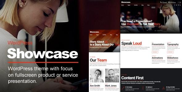 Showcase - Fullscreen Slides Wordpress Theme - Creative WordPress