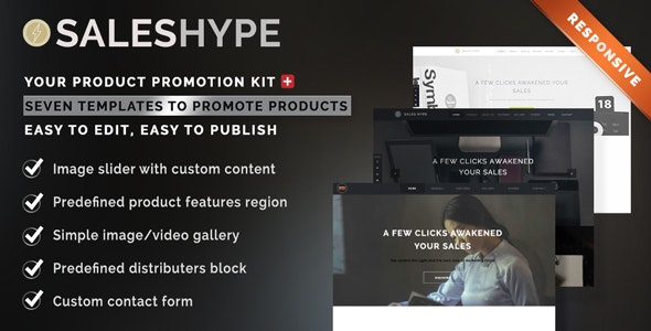 SALES HYPE - Single-Page Product, Promotion and  Services Sale Muse Template - eCommerce Muse Templates