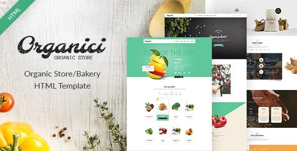 Organici - Organic Store/Bakery eCommerce Template - Food Retail