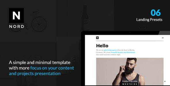 NORD - Responsive Creative Template with Focus on Content & Portfolio Presentation - Portfolio Creative