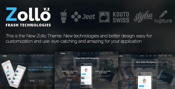 Zollo V2 HTML Landing page - Apps Technology