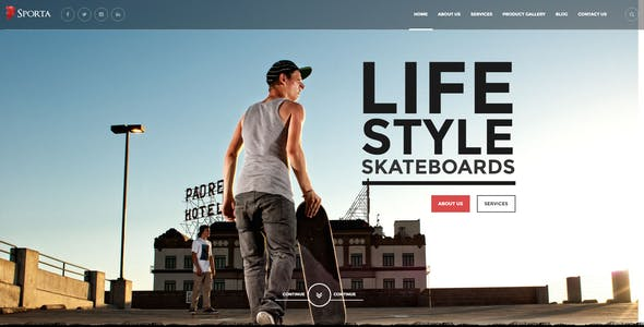 Sporta - Extreme Sports, Manufacture HTML Template