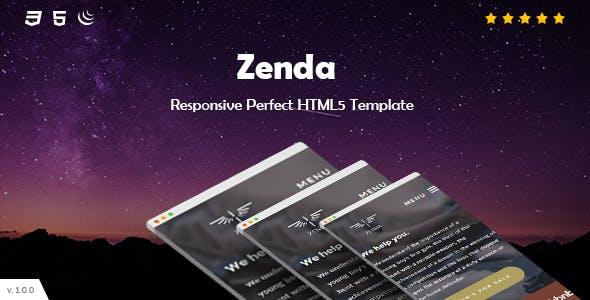 Zenda - Onepage Responsive  HTML Template