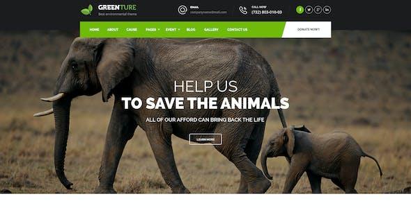 Greenture - Environment / Non-Profit PSD Template