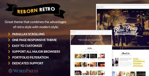 Reborn Retro - One Page WordPress Theme - Portfolio Creative