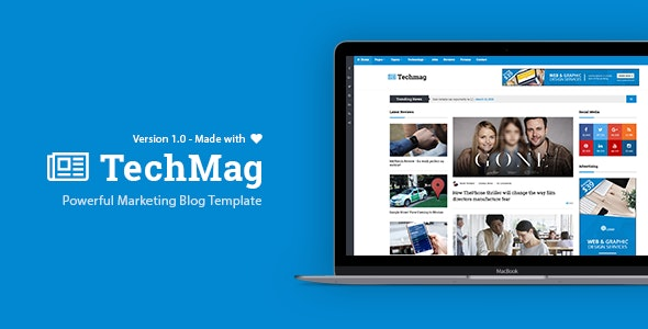 TechMag - News and Magazine BootStrap Template - Technology Site Templates
