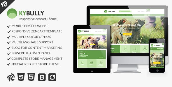 Kybully - Mobile First Zencart Theme