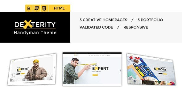 Dexterity - Responsive HTML template for Handyman, Construction, Architects and Plumbers, etc