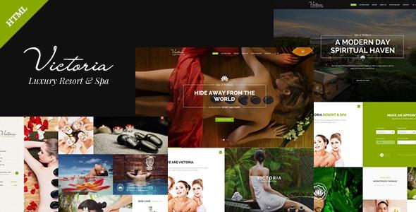 Victoria - Spa Beauty & Resort - Retail Site Templates