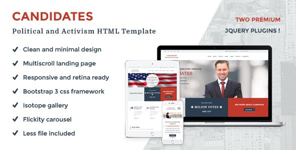 Candidates - Political and Activism HTML5 Template