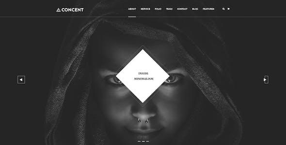 Concent - MultiPurose Business Art Photography PSD Template