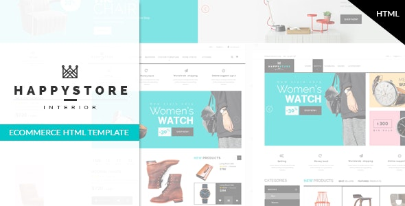 HappyStore - Fashion & Furniture Shop eCommerce Template - Shopping Retail