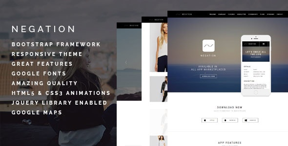 Negation - Agency | App | Shop | Photography Theme - Creative Site Templates