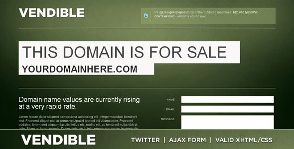 Vendible - Site/Domain For Sale XHTML/CSS - Miscellaneous Specialty Pages