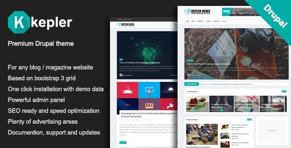 Kepler – Premium Blog/Magazine Drupal theme - Blog / Magazine Drupal