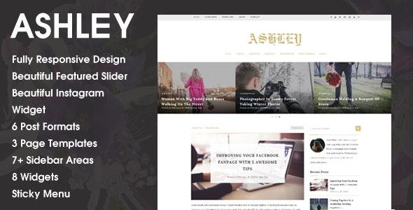 Ashley - A WordPress Blog Theme - Blog / Magazine WordPress