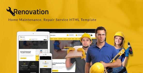 Renovation - Handyman Repair Service HTML Template - Business Corporate