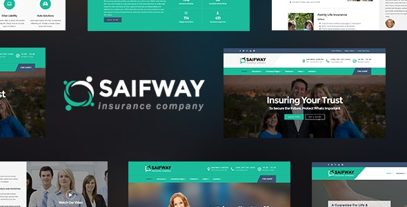 Saifway - Insurance Agency HTML5 Template - Business Corporate