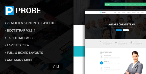 Probe - Responsive Multi-Purpose HTML5 Template - Corporate Site Templates