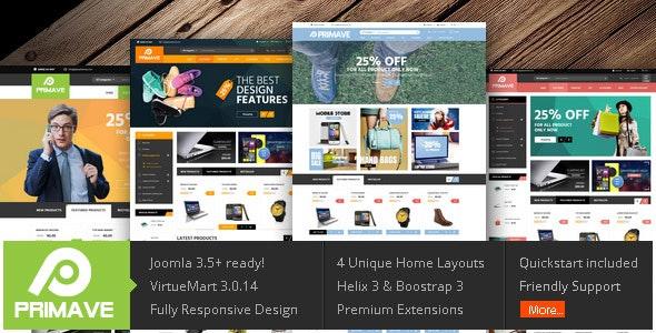 Vina Primave - Multipurpose Joomla Virtuemart Template - VirtueMart Joomla