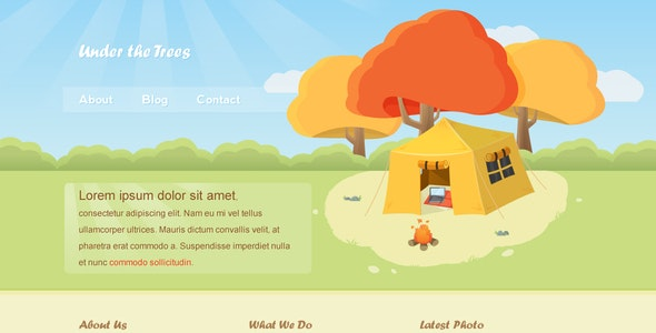 Under the Trees - Illustrated Template - Miscellaneous PSD Templates