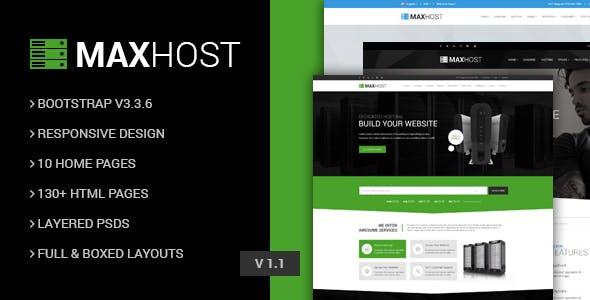 MaxHot - Professional Web Hosting Responsive HTML5 Template