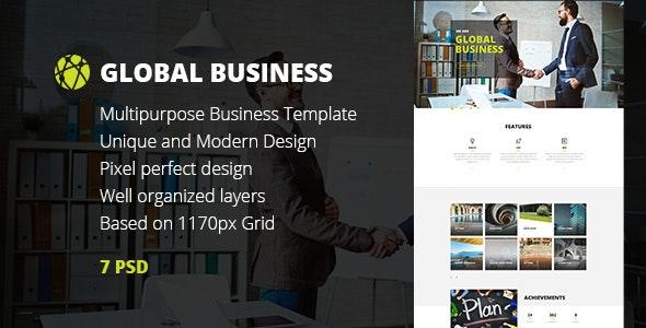 GB — Multipurpose Global Business, Freelance & Portfolio PSD Template - Business Corporate