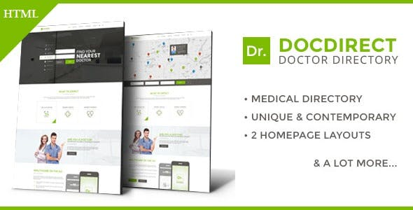 DocDirect - Responsive Directory HTML Template for Healthcare Profession